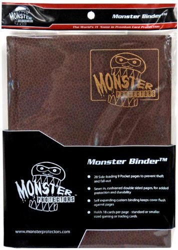 Monster Binder - 9 Pocket Trading Card Album - Dragonscale Bronze - Holds 360 Yugioh, Magic, and Pokemon Cards by Monster Protectors