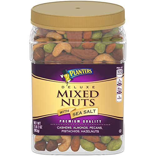 Planters Deluxe Salted Mixed Nuts (34 oz Canister)
