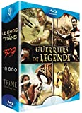 Coffret guerriers de légende - Le choc des titans + 300 + 10 000 + Troie [Francia] [Blu-ray]