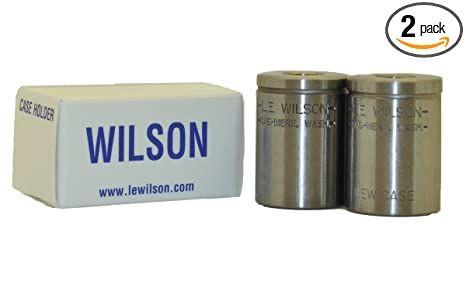 LE Wilson BCH-308WIN Case Holder for 243 Winchester/308 Trimmer, Fired &  New Included, Polished Steel