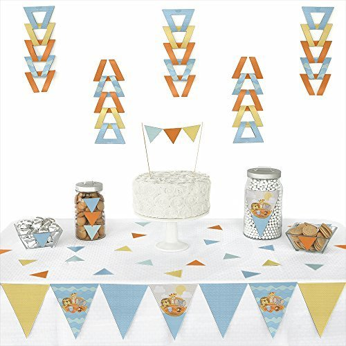 Noah's Ark - Triangle Baby Shower Party Decoration Kit - 72 Pieces (Noah Ark Baby Shower)