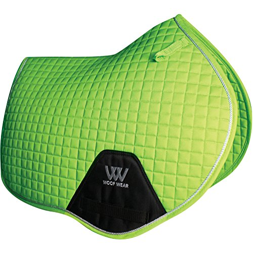 Woof Wear Close Contact Saddle Pad Full Size Lime by WOOF WEAR