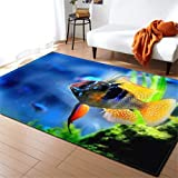 Home Textile Area Rugs 3D Underwater World Carpet Flannel Baby Crawling Mat Children Room Anti-Slip Carpets