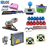 BLEE Arcade Game Parts DIY Kit Pandora's Box 4s 680 in 1 Jamma Game Board Arcade Button and Joystick Kit Coin Acceptor to Arcade Machine