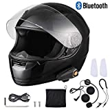 AHR Bluetooth Motorcycle Modular Helmet Full Face with Wireless Headset Hands Free Intercom MP3 FM Radio DOT