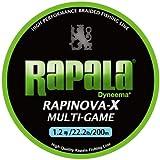 Rapala(ラパラ) ライン ラピノヴァX マルチゲーム 1.2号 22.2lb 200m ライムグリーン  RLX200M