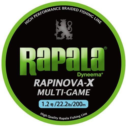 Rapala(ラパラ) ライン ラピノヴァX マルチゲーム 1.2号 22.2lb 200m ライムグリーン RLX200Mの商品画像