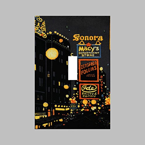 NEW YORK CITY NYC TIMES SQUARE BROADWAY MACYS- SINGLE Light Switch Plate / - Times Square Macy's