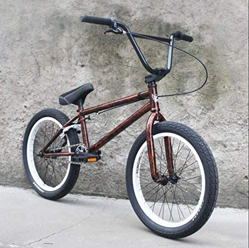 20インチBMXバイク、高強度クロムモリブデン鋼BMXフレーム、Uブレーキ付き3セクション8キークランク、3D鍛造アルミニウム合金トップカバー