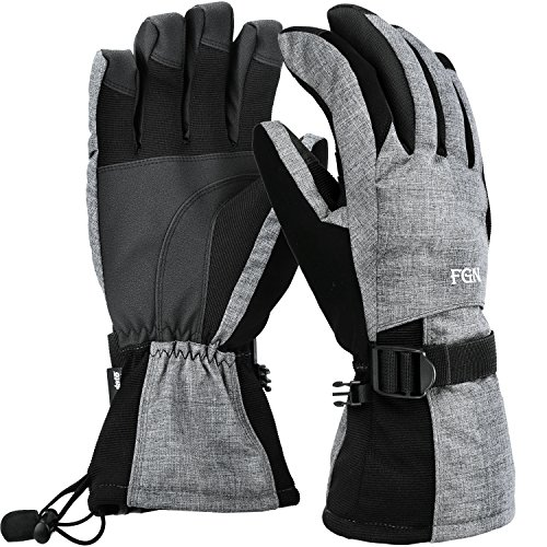 Waterproof Mens Ski Gloves, Breathable Windproof Warm Ski...