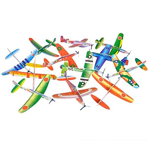 2-dozen-party-favors-8-glider-planes-fighter-jets-fun-toys-bulk-pk-of-24-gliders-foam-glider-airplan
