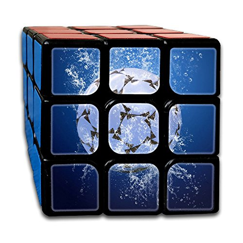 AVABAODAN Ice Soccer Rubik's Cube 3D Printed 3x3x3 Magic Square Puzzles Game Portable Toys-Anti Stress For Anti-anxiety Adults Kids by AVABAODAN
