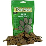 Real Meat Large Bits Beef Jerky Dog Treats 12 oz [2-Pack]