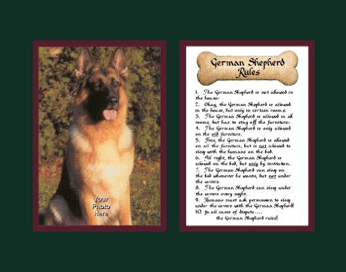 (Dog Rules German Shepherd Wall Decor Pet Saying)