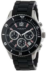 Akribos XXIV Men's AK577BK Essential Diver's Chronograph Stainless Steel Bracelet Watch