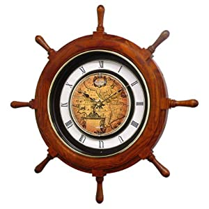 51tO8VgnEqL._SS300_ Best Ship Wheel Clocks