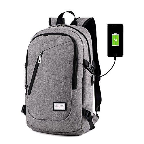 Otomoll Usb Charging Rucksack Rucksack Für Männer Und Frauen gray