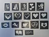 50 x sport themed stencils for etching on glass mixed gift present glassware hobby craft cheerleader baseball football soccer