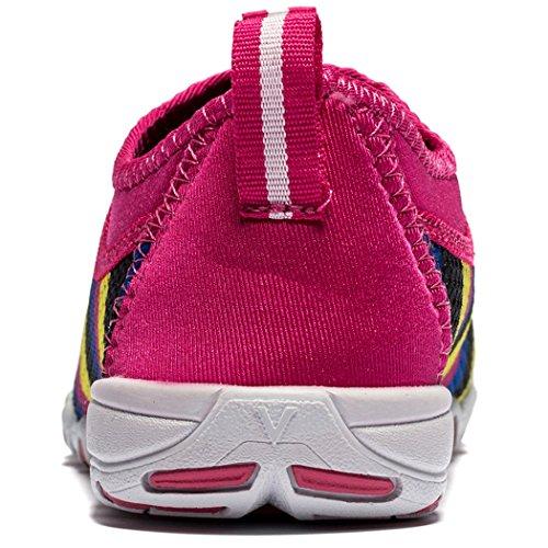 Cerfs Mocassins Occasionnels Des Femmes Perspective Athlétique Marche Chaussures De Conduite Slip-on Léger Arc-en-ciel