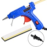 Hot Glue Gun with 15 Pieces Melt Glue Sticks, 20W High Temperature Melt Glue Gun Tool Kit with On/ Off Switch for DIY Small Craft Projects, Arts, Sealing and Fixing Household Items by Queenti