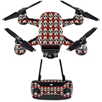 Skin for DJI Spark Mini Drone Combo - Sugar Skull| MightySkins Protective, Durable, and Unique Vinyl Decal wrap cover | Easy To Apply, Remove, and Change Styles | Made in the USA