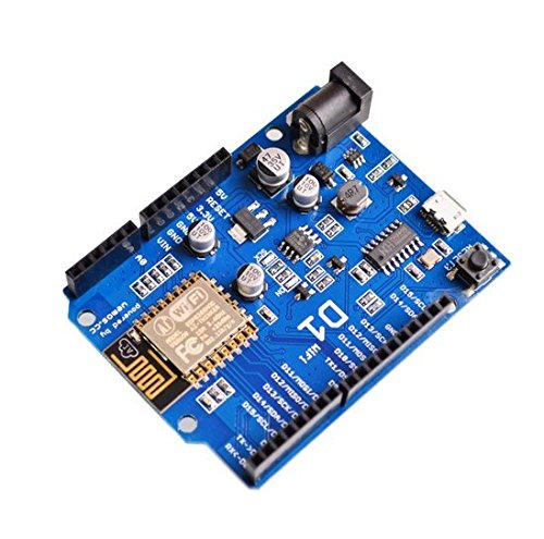 [initeq] 2 Pack D1 WIFI Development Board ESP-12 ESP8266 Arduino UNO Size, with Power Connector Pigtail by initeq (Image #2)
