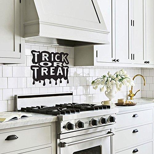 Trick or Treat Halloween Art Decal / Wall Decoration Vinyl Sticker - Black