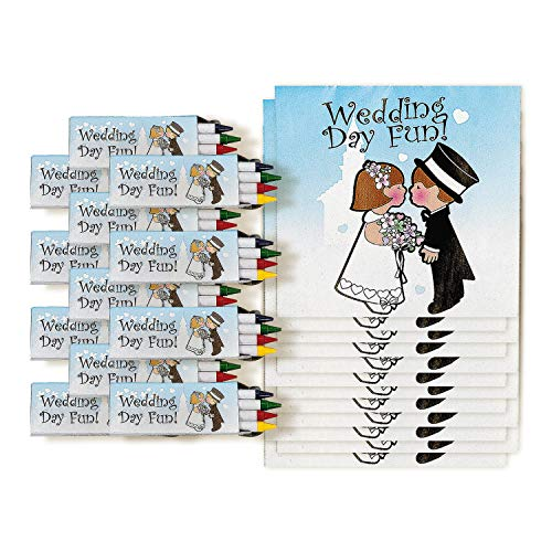 Childrens Wedding Activity Sets (12 Count)/Toys/Reception Activity/Coloring Book