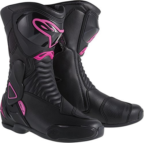NEW ALPINESTARS STELLA SMX-6 PERFORMANCE RIDING WOMENS SPORT-FIT BOOTS, BLACK/PINK, EUR-42/US-10 Smx Plus Vented Racing Boots