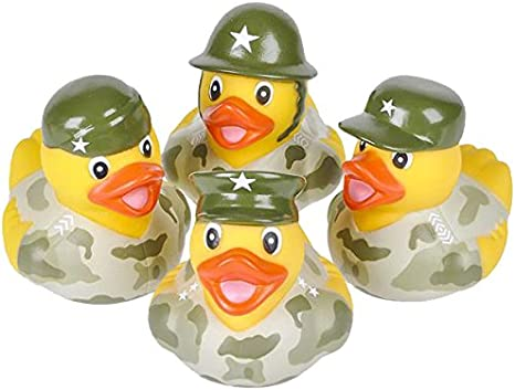 Army Sargent Rubber Ducky Duck U.S