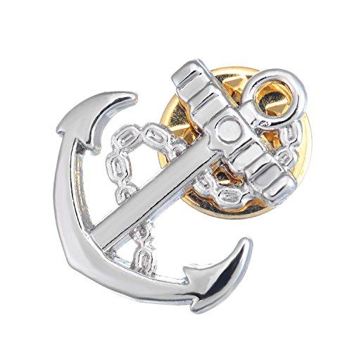 Salutto Anchor Lapel Pin Silver