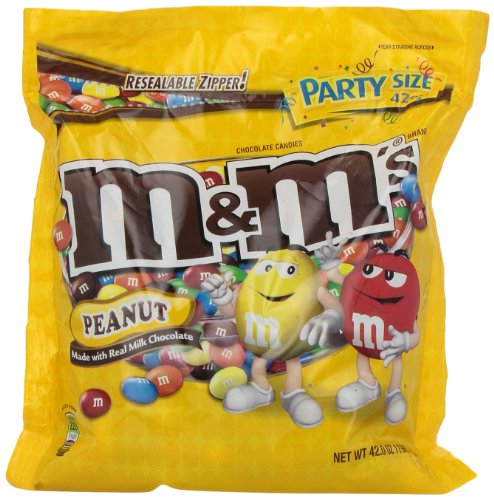 M&M's Peanut Candy, 42-Ounce Packages (Pack of 2) ()