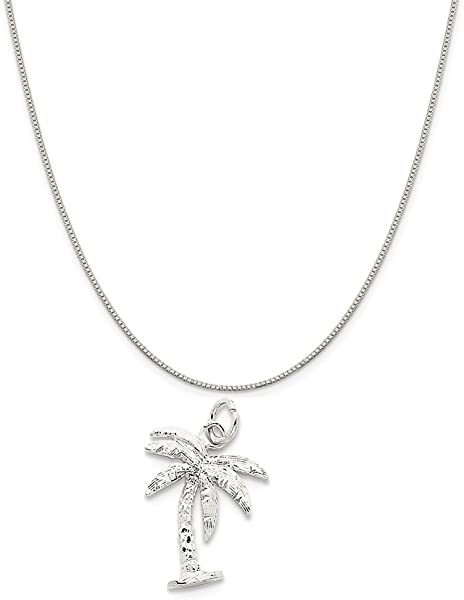 Mireval Sterling Silver Polished Angel Wing Charm on a Sterling Silver Chain Necklace 16-20