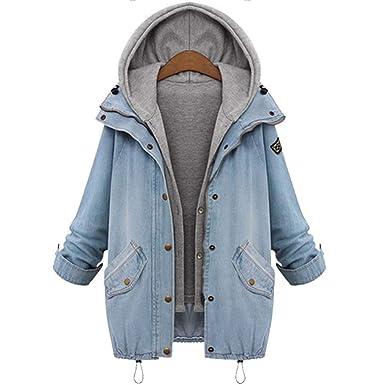 Amazon.com: Mh.kh6j5lk - Chaqueta con capucha para mujer de ...