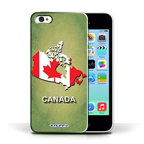 KOBALT® Hülle Case für Apple iPhone 5C | Kanada/Kanadischen Entwurf | Flagge Land Kollektion
