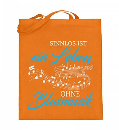 Shirtee H18i25wt_xt003_38cm_42cm_5739 - Cotton Fabric Bag For Blue 38cm-42cm Woman Mittelorange