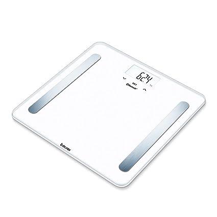 Beurer BF 600 - Báscula digital de diagnóstica con IMC y función Bluetooth de vidrio,