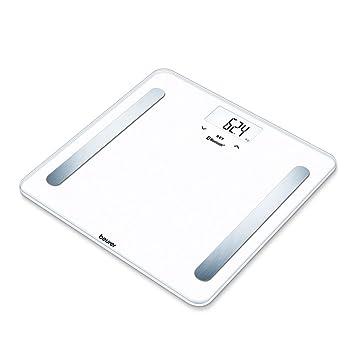 Beurer BF600 Básculadigital de diagnóstica con IMC y función Bluetooth, de vidrio, con App