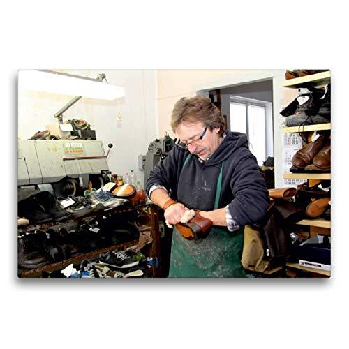 CALVENDO Toile Textile de qualité supérieure - 75 x 50 cm - La Chaussure est brossée - Image Murale sur châssis - Impression sur Toile véritable - Motif : Schuster Homme