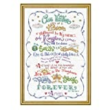 Design Works - Lord's Prayer - Counted Cross Stitch Kit 2974 with Gift Card, 12 by 18-inches