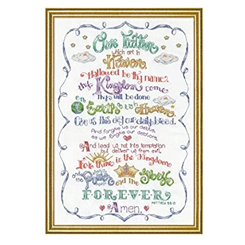 Design Works 2974 Lord's Prayer Counted Cross Stitch Kit, 12 by 18 inches - Lords Prayer Craft