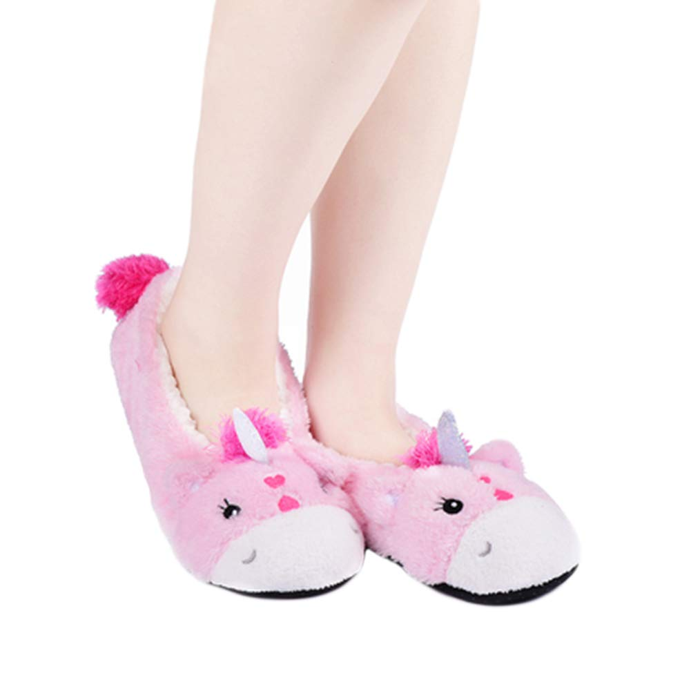 Indoor Floor Stocking Shoes Home Christmas Socks Women Girls Winter Cute Cozy Warm Fuzzy Slipper Socks with Grippers