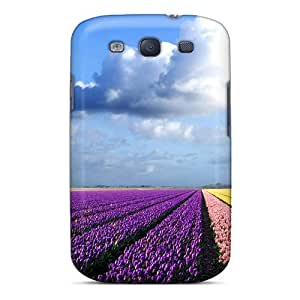 Great Cell-phone Hard Cover For Samsung Galaxy S3 (jMG2779UpaE) Custom Realistic Tulip Field Image