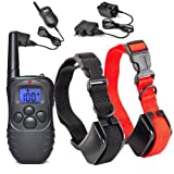 Rox 2 Dogs Training Collar Shock and Vibrate Rechargable Black Waterproof