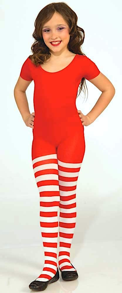 Forum Novelties Novelty Candy Cane Striped Christmas Tights Child Medium