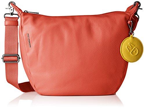 Mandarina Duck Damen Mellow Leather Tracolla Schultertasche, 11x28x30 cm Pink (Siena)
