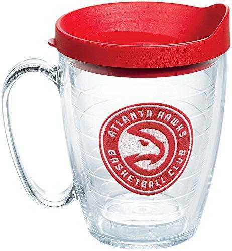 Tervis 1189940 NBA Atlanta Hawks Circle Logo Tumbler with Emblem and Red Lid 16oz Mug, Clear