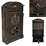 Bronze Mail Box Heavy Duty Letter Mailbox Postal Box Security Cast Wall Mount US