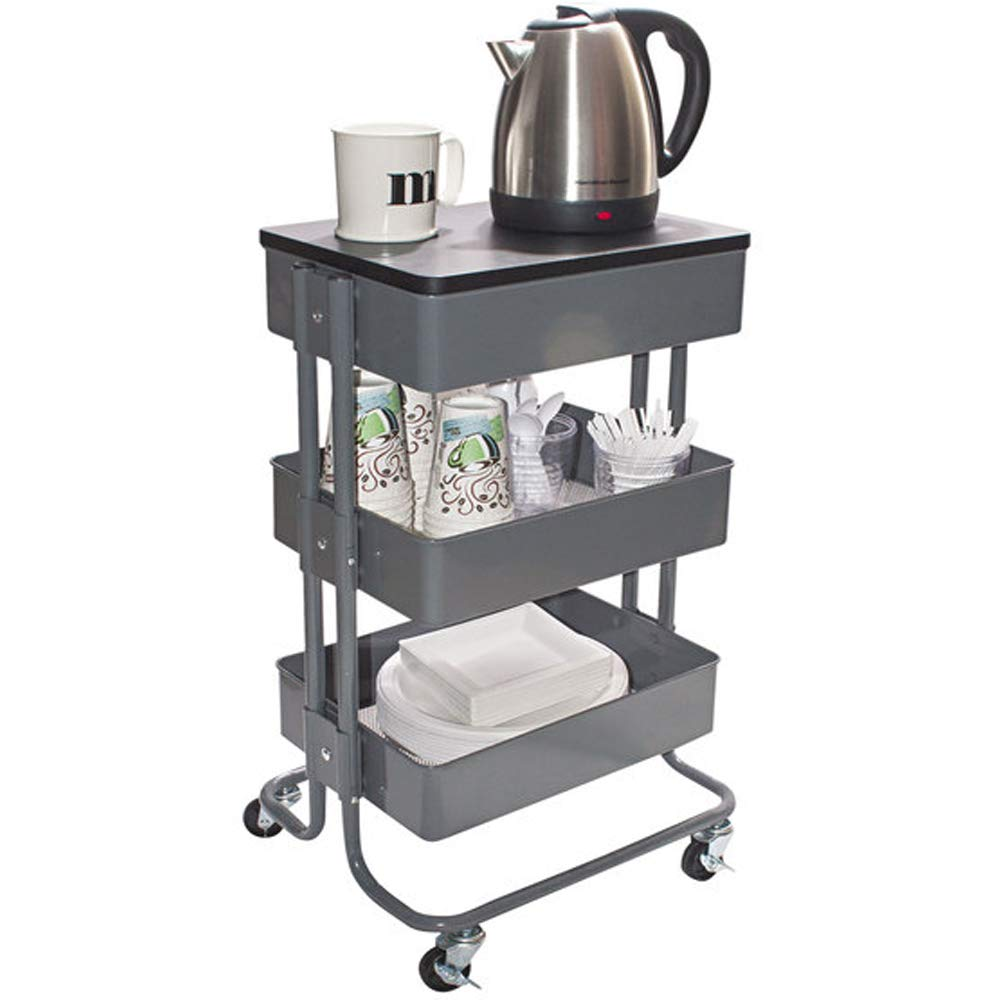 Vertiflex Gray Multi-Use Storage Cart/Stand-Up Workstation Overall 13 15/16'' x 11 3/4'' x 39 1/2''