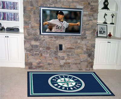 MLB - Seattle Mariners 4 x 6 Rug by Fanmats